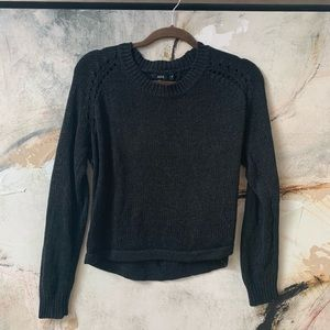 Nasty gal uniq black sweater with back detail